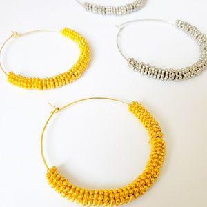 Gold or Silver hoop earrings